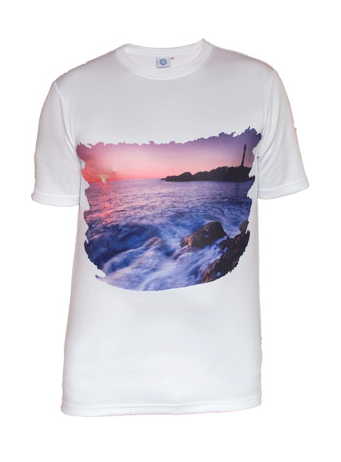 6b036f72 T-skjorte med trykk fra Hellesøy fyr – Fossekallen